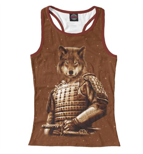 Майка борцовка Print Bar Волк самурай футболка print bar волк самурай