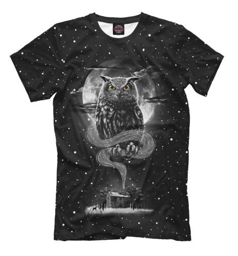 Фото - Мужская футболка Ночная сова от Print Bar белого цвета