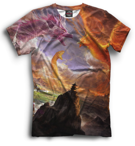 Мужская футболка Драконы