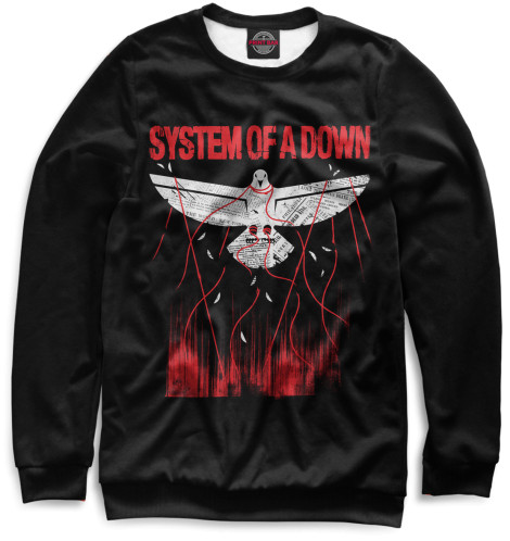 Женский свитшот System of a Down