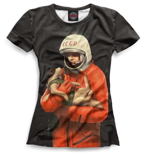 Женская футболка ГагаринВсе футболки изготавливаются в Москве на нашем производстве и на 100% состоят из высококачественного материала microfibre. Благодаря этому, качество изображения на футболке получается наиболее ярким и насыщенным и выдерживает любое количество стирок.<br><br>Размер INT: 2XS,XS,S,M,L,XL,XXL,XXXL,4XL,5XL,104,110,116,122,128,134,140,146,152,158<br>Цвет: Белый<br>Пол: Женский<br>Материал: Хлопок