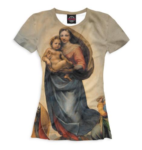 Женская футболка Сикстинская мадонна