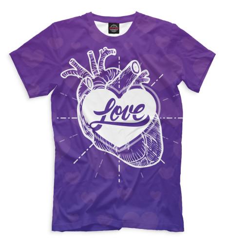 Мужская футболка Любовь в сердце