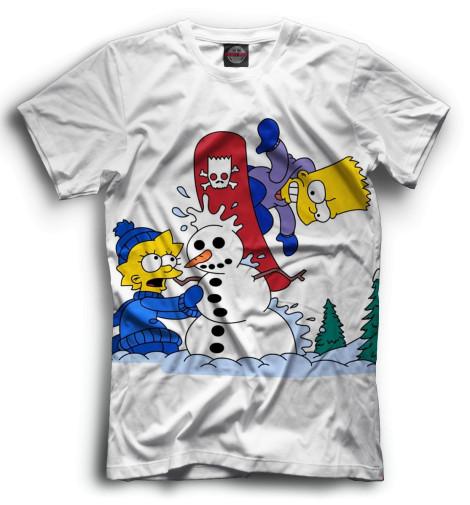 Мужская футболка Барт и Лиза