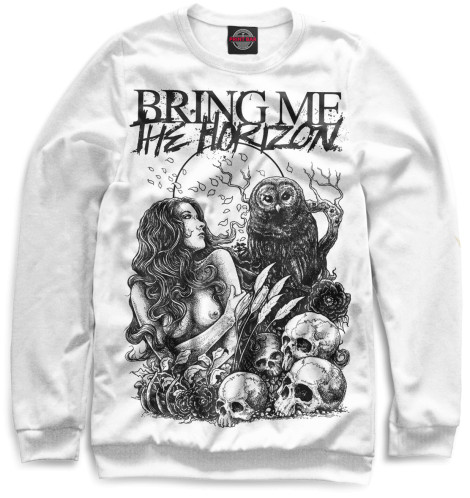 Мужской свитшот Bring Me The Horizon Print Bar BRI-118006-swi
