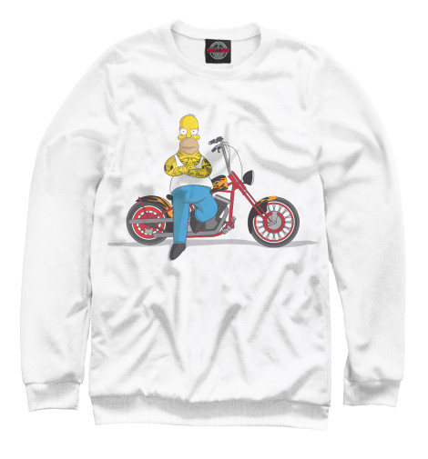 Свитшот Print Bar Homer and his Motorbike бра jupiter bristol 1432 br k 1 e