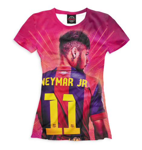 Женская футболка Неймар