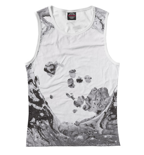 Майка Print Bar Radiohead hanky hem long scoop neck tank top