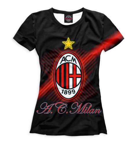 Женская футболка Герб AC Milan