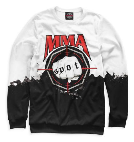 Фото - Мужской свитшот MMA Spot от Print Bar белого цвета