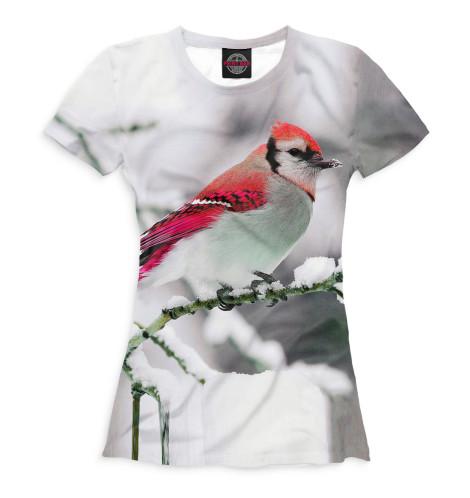 Женская футболка Зяблик
