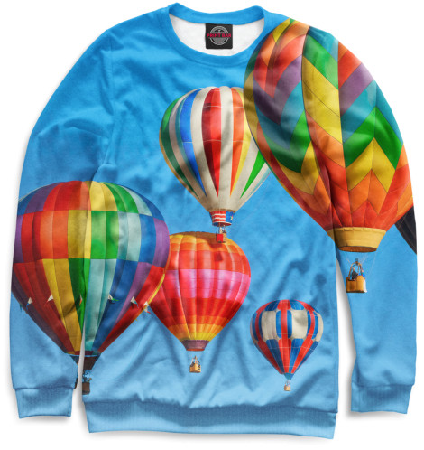 Женский свитшот Воздушные шары