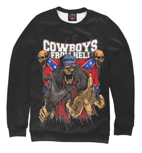 Свитшот Print Bar Cowboys From Hell худи print bar pantera cowboys from hell
