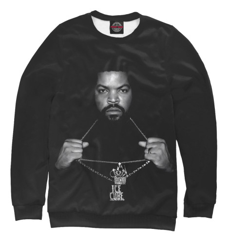 Фото - Женский свитшот Ice Cube от Print Bar белого цвета