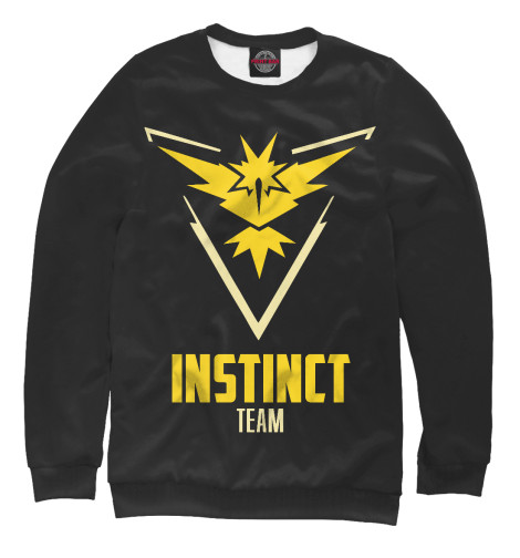 Свитшот Print Bar Pokemon GO - Instinct Team футболка print bar pokemon go instinct team