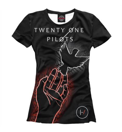 Фото - Женская футболка Twenty One Pilots от Print Bar белого цвета