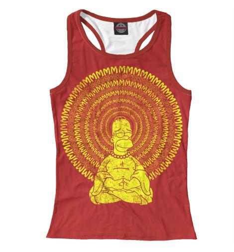 Майка борцовка Print Bar Гомер Буддизм