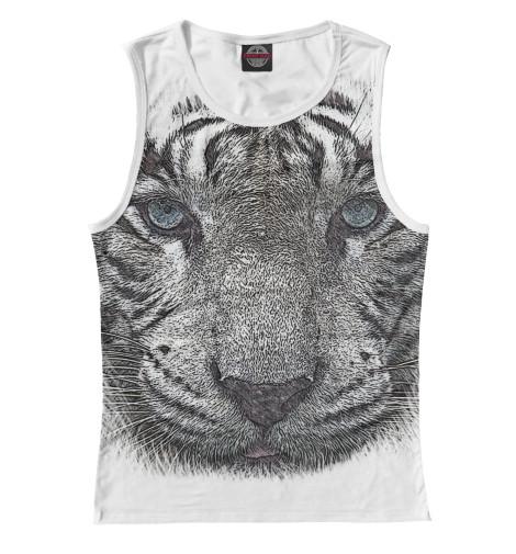 Майка Print Bar Белый тигр тигр лежащий t2021k o