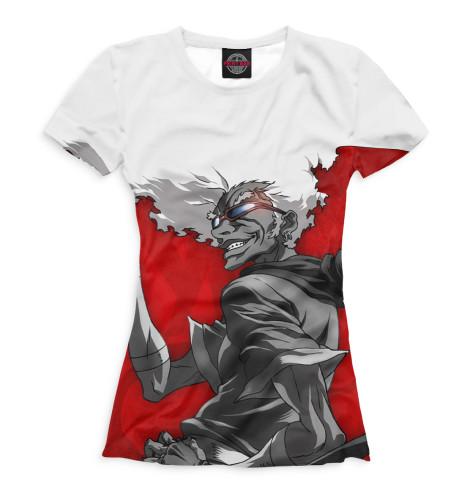 Женская футболка Афросамурай