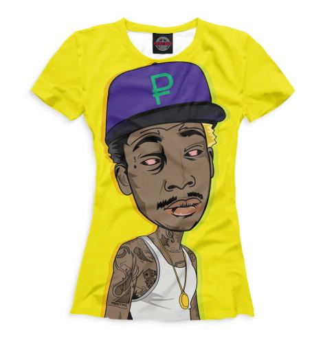 Женская футболка Wiz Khalifa