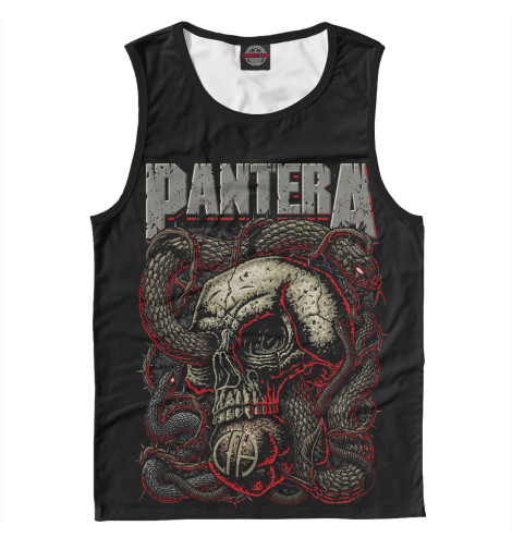 Майка Print Bar Pantera Skull and Snake худи print bar pantera cowboys from hell