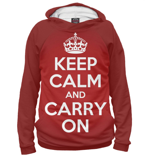 Худи Print Bar Keep calm and carry on лонгслив printio keep calm and carry on