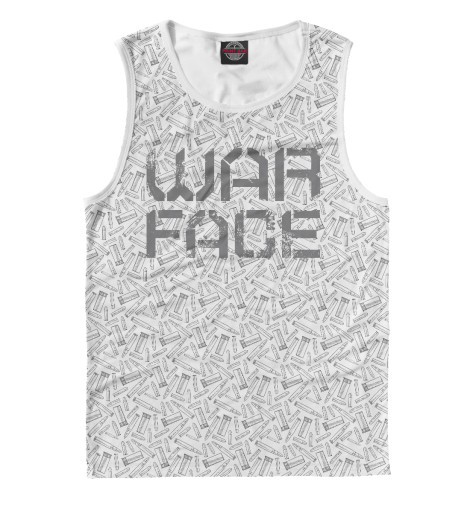 Фото - Мужская майка Warface от Print Bar белого цвета