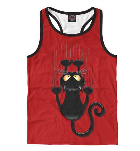 Майка борцовка Print Bar Черный кот майка борцовка print bar черный кот