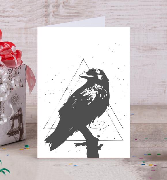 Ворон открытка