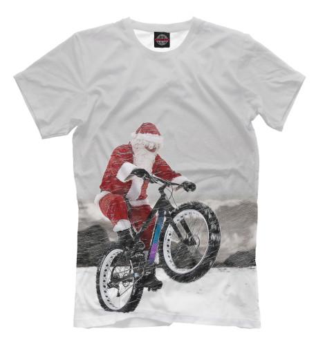 Купить Мужская футболка Дед Мороз и его БАЙК NOV-931405-fut-2