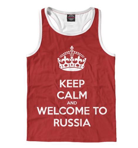 Майка борцовка Print Bar Welcome to Russia майка классическая printio welcome to russia