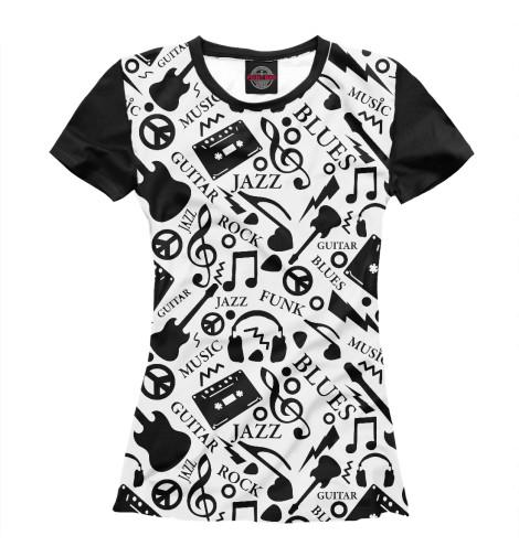 Женская футболка Jazz and Blues