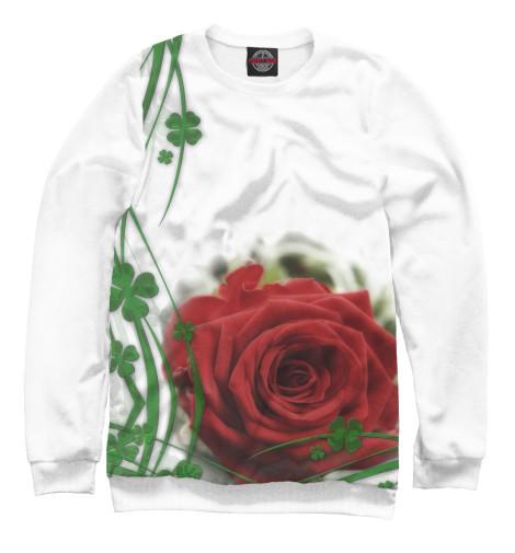 Фото - Женский свитшот Роза от Print Bar белого цвета