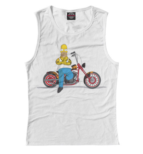 Майка Print Bar Homer and his Motorbike худи print bar homer logan