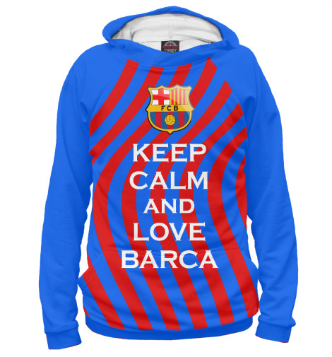 Худи Print Bar Keep Calm and Love Barca футболка wearcraft premium printio keep calm and play pokemon