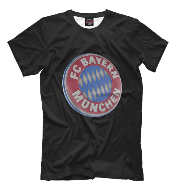 Купить Мужская футболка черная со значком FC Bayern Munchen
