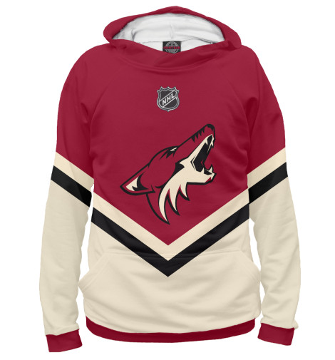 Фото - Женское худи Arizona Coyotes от Print Bar белого цвета