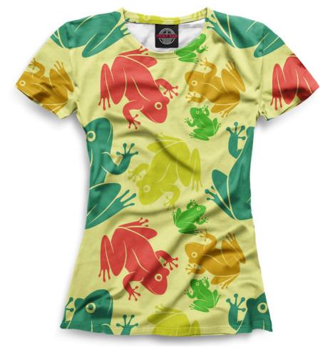 Женская футболка Лягушки