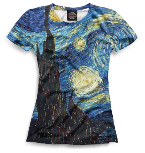 Женская футболка Звёздная ночь