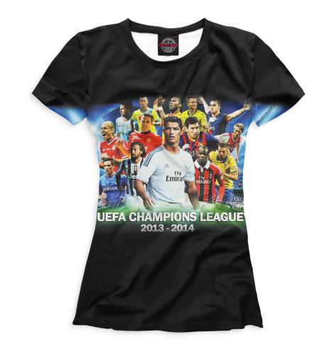 Женская футболка UEFA Champions LeagueВсе футболки изготавливаются в Москве на нашем производстве и на 100% состоят из высококачественного материала microfibre. Благодаря этому, качество изображения на футболке получается наиболее ярким и насыщенным и выдерживает любое количество стирок.<br><br>Размер INT: 2XS,XS,S,M,L,XL,XXL,XXXL,4XL,5XL,104,110,116,122,128,134,140,146,152,158<br>Цвет: Белый<br>Пол: Женский<br>Материал: Хлопок