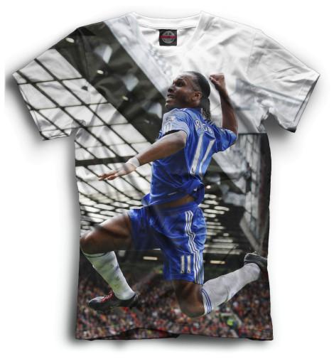 Мужская футболка Дрогба в прыжке
