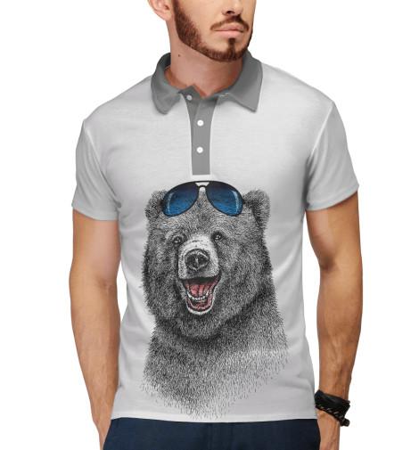 Поло Print Bar Счастливый медведь свитшот print bar счастливый медведь