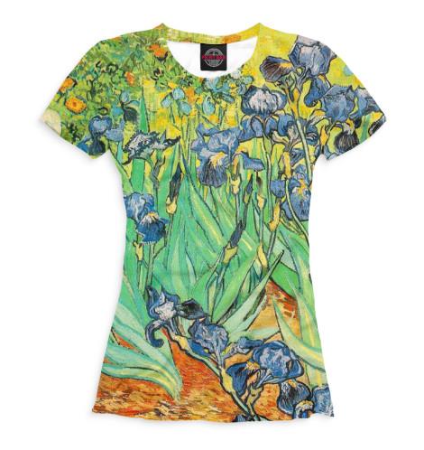 Женская футболка Ирисы