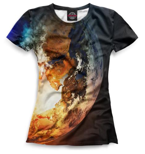 Женская футболка Земля