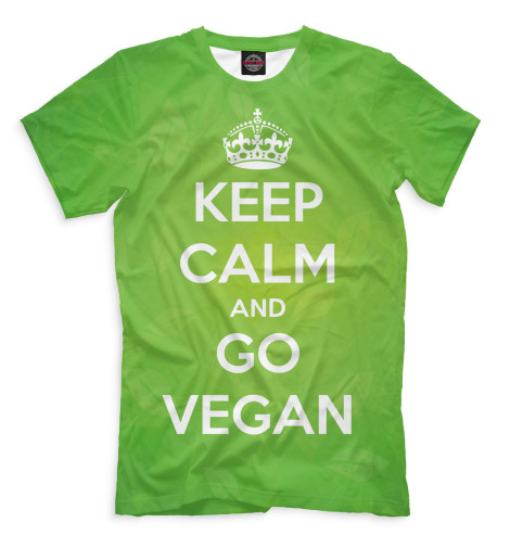 Футболка Print Bar Keep Calm And Go Vegan футболка wearcraft premium printio keep calm and manezhka green