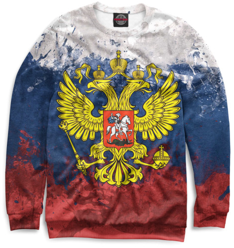 Мужской свитшот Триколор и герб
