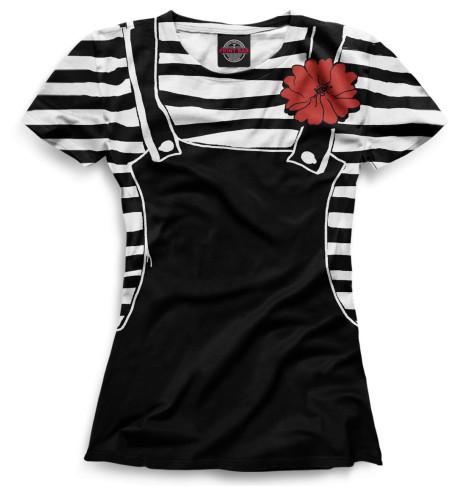 Женская футболка Костюм мима