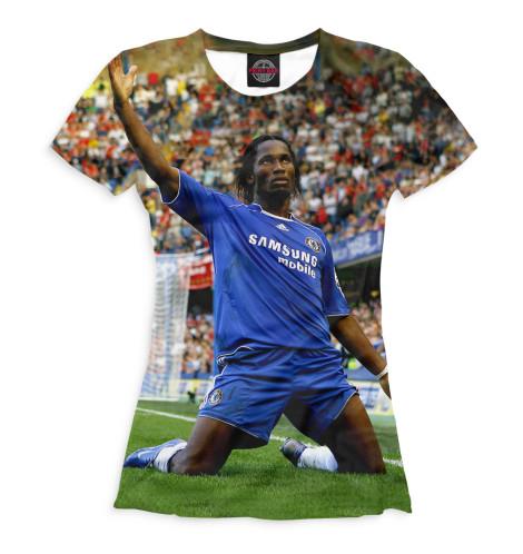 Женская футболка Дрогба