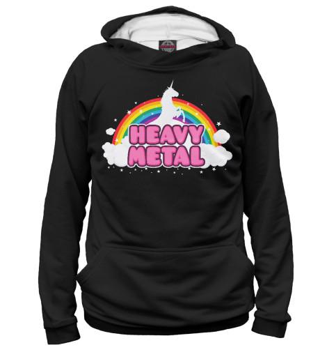 Худи Print Bar Heavy Metal Unicorn лонгслив printio heavy metal gymwear