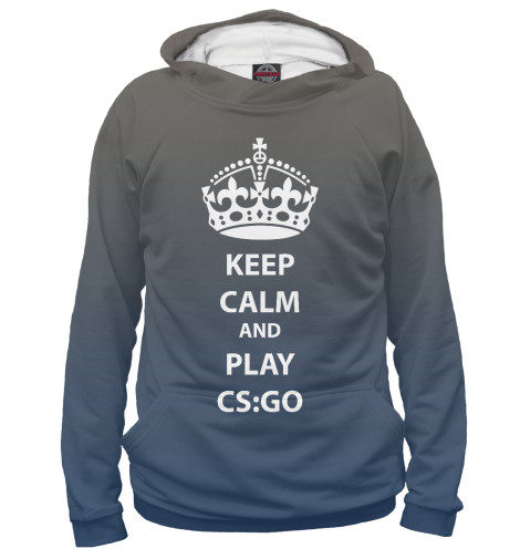 Худи Print Bar KEEP CALM AND PLAY CS GO свитшот print bar go to valhalla with ragnar
